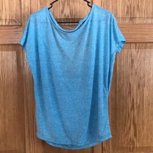 Daytrip blue shirt with open back